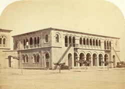 The offices of the Indo European Telegraph Department, Kurrachee [Karachi]. Rear view of Right wing.